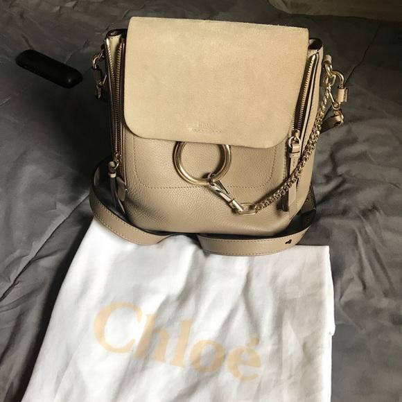 e1a96fb5b4a Chloe Bags | Small Faye Backpack Motty Grey | Poshmark
